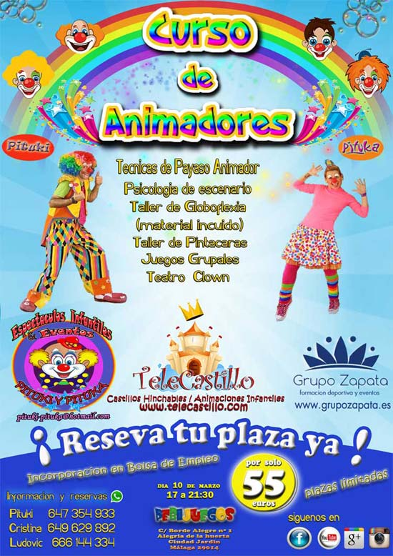 curso animacion infantil Malaga
